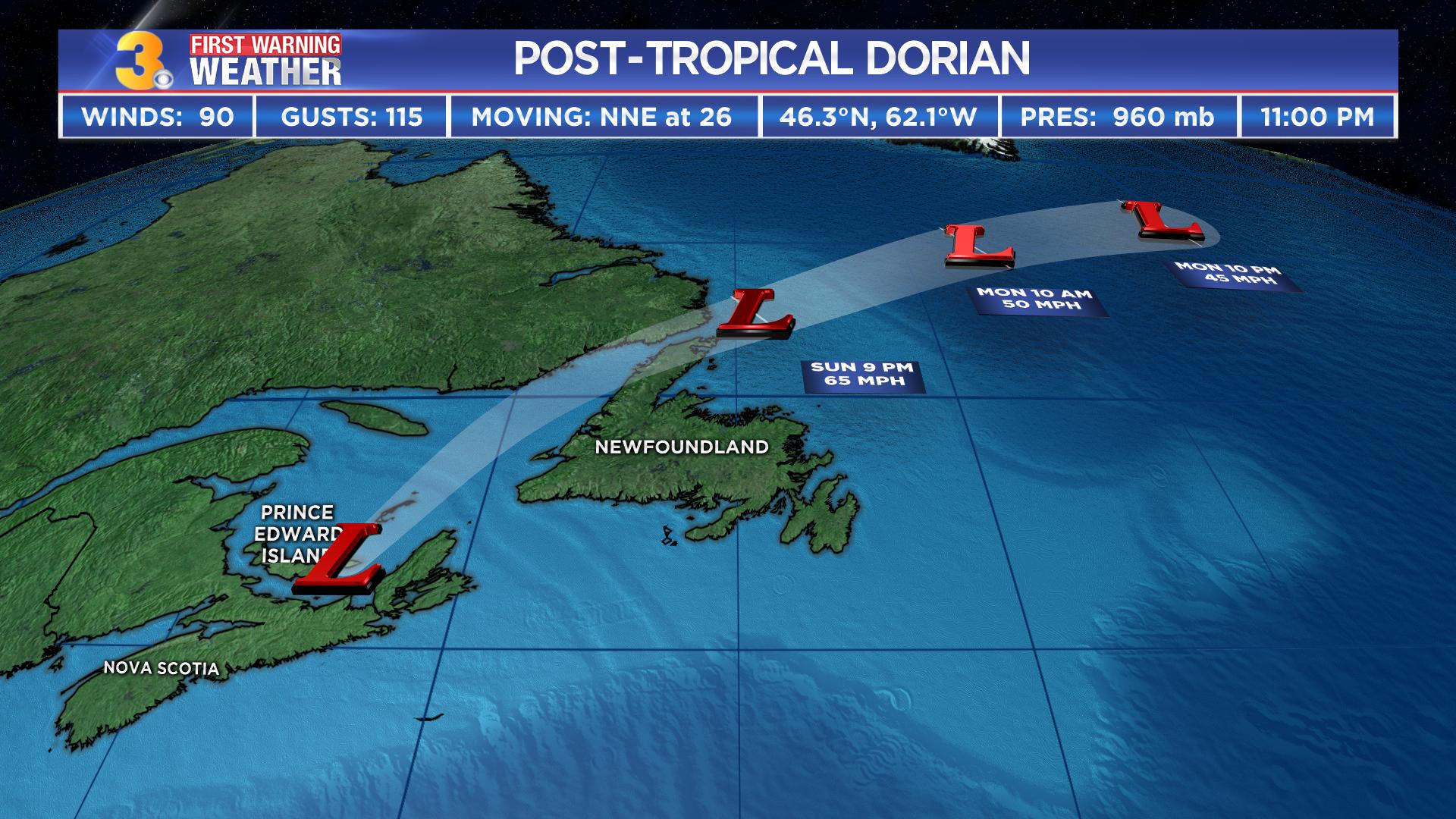 Dorian Heads To Nova Scotia After Causing Major Flooding In Hampton Roads Northeastern North Carolina